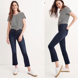 Madewell Cali Demi boot jeans 27 Larkspur Wash